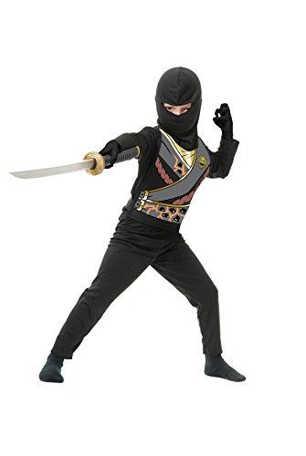 Ninja Suit For Kids (Charades Child's Ninja Avenger Series 4 Costume Jumpsuit, Black, Small)
