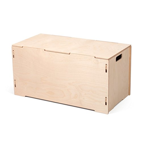 Unfinished Wooden Large Storage Tote Box with Lids, American Made - By Sprout by Sprout