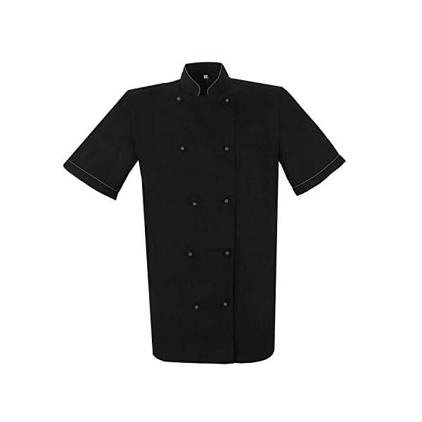 MISEMIYA Chaquetas Chef Bar Restaurante Cocinero Mangas Cortas Camisa de utilidades de Trabajo para Hombre 1