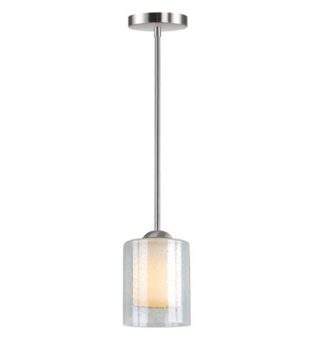 (Woodbridge Lighting 28048-STN Cosmo 1-Light Mid-Pendant, Satin Nickel by Woodbridge Lighting)