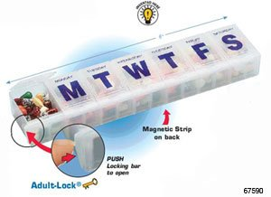 Adult Lock 7 Day Pill - Ezy Dose 7-day Adult-lock Locking Pill Reminder