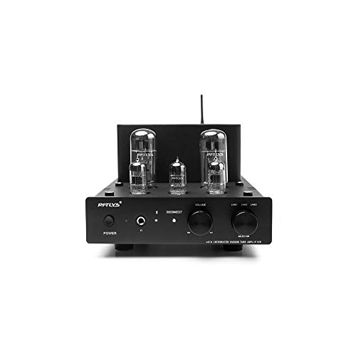 RFTLYS EA1A Headphone Amplifier & Integrated Amp Wireless Bluetooth EL34 Tube Class A Single-Ended (Black) (Best Integrated Tube Amp Under 2000)