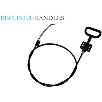Recliner-Handles D-RING PARACHUTE STYLE REPLACEMENT RECLINER RELEASE HANDLE LONG CABLE AND Spring End