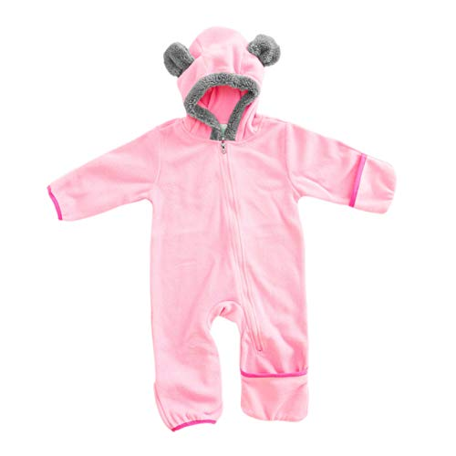 (Funzies Baby Bunting Fleece Hooded Romper Bodysuit)