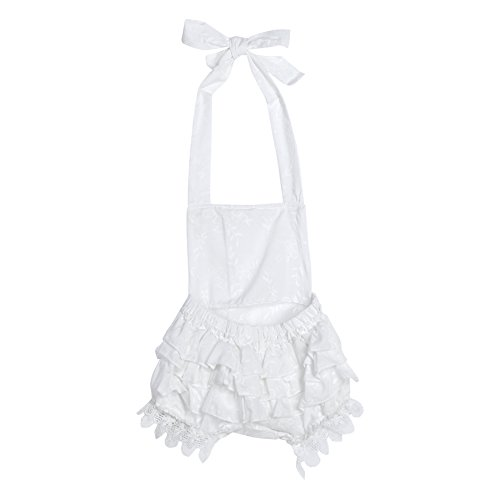 74618c3dcc amazingdeal Kids children Girls Sleeveless White Lace Rompers Jumpsuit  Bodysuit Outfit