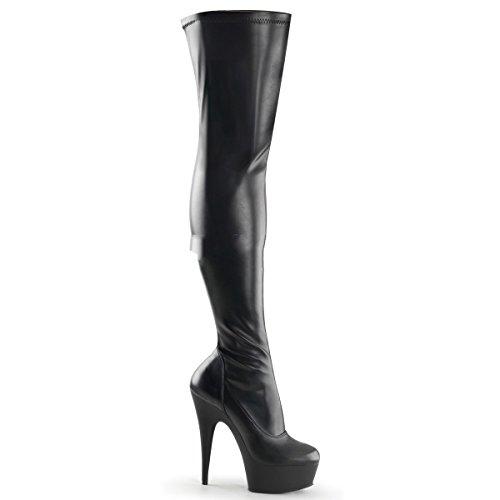 Pleaser Delight-3000 - sexy stivali sopra il ginocchio con i tacchi alti e plateau 36-45, US-Damen:EU-37 / US-7 / UK-4