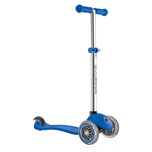 Globber 3 Wheel Adjustable Height Scooter (Dark Blue)