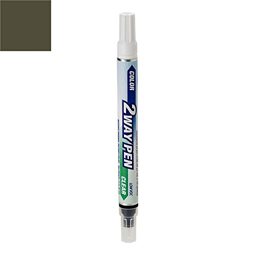 (ExpressPaint 2WayPen Lincoln All Automotive Touch-up Paint - Charcoal Beige Metallic Clearcoat T7/M7136 - Color + Clearcoat Only)