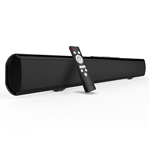 2.1 Channel 40W Bluetooth Sound Bar, Meidong TV Soundbar Built-in Subwoofer(Wireless Home Theater Speaker,37-Inch, 4 Drivers, Optical/Remote Control/Wall Mountable Included, Updated Model KY 2022)
