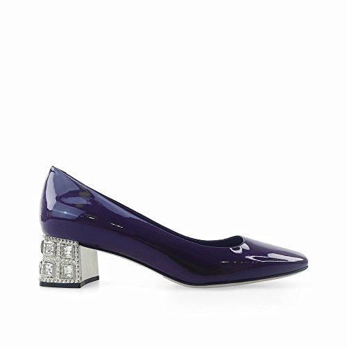 Boca Zapatos Baja Mama Grape Altos Tacones Áspero Puro Color Cuadrada Hembra Diamante Con 39 Cabeza Dhg Elegante Salvaje segundo 7Xwnf1SqqF