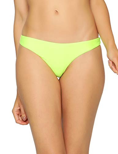 RELLECIGA Women's Neon Green Super Cheeky Brazilian Cut Bikini Bottom Size -