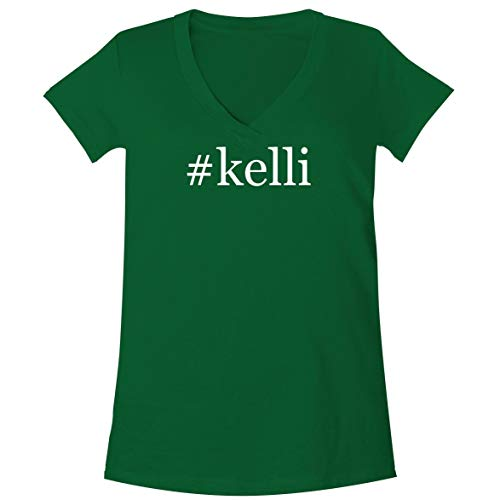 The Town Butler #Kelli - A Soft & Comfortable Women's V-Neck T-Shirt, Green, Small