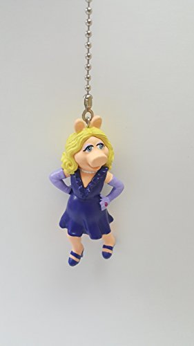 Misses Pull (Disney The Muppets MISS PIGGY PVC Chain Light Fan Pull Action Figure 3.5