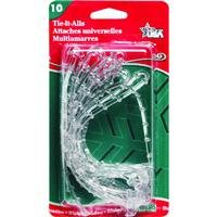 Adams Christmas 8710-06-1040 Clear Tie-It-All, 10-Pack]()