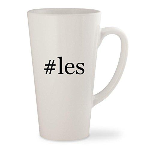#les - White Hashtag 17oz Ceramic Latte Mug Cup