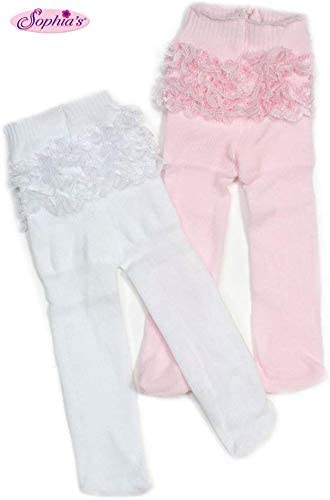 """A Line Ruffle Dress /& Striped Leggings For Your American Girl or Other 18/"""" Dolls"""