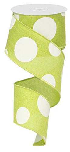 - Large Polka Dot Wired Edge Ribbon - 2.5