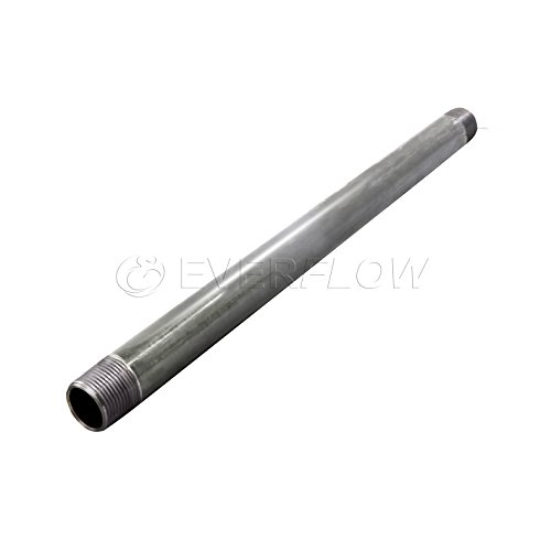 Everflow Supplies PCGL1124 24'' Long Pre-Cut Galvanized Pipe with 1-1/4'' Nominal Size Diameter by Everflow Supplies