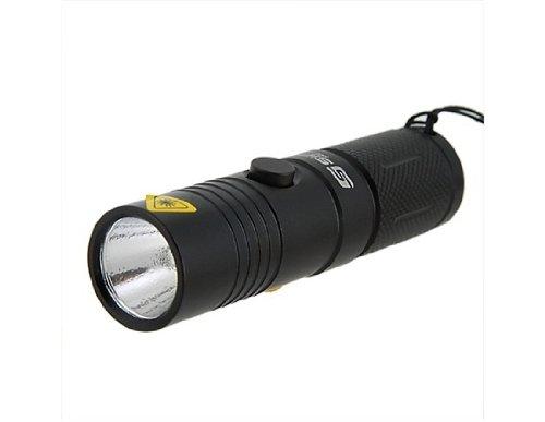 Sipik HK23 CREE Q3 1 Mode 80 Lumen White Light LED Flashlight with Wrist Strap (Black)