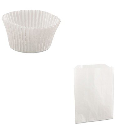 KITBCP450019HOF610032-Value-Kit-Packaging-Dynamics-PB19-Grease-Resistant-SandwichPastry-Bags-BCP450019-and-HOFFMASTER-Fluted-Bake-Cups-HOF610032
