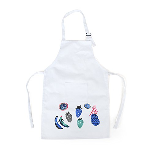 Opromo Colorful Cotton Canvas Kids Aprons with Pocket, Artist Apron & Chef Apron(S-XXL)-Hot Pink-L by Opromo (Image #5)
