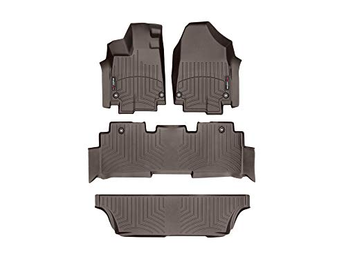 (WeatherTech Custom Fit FloorLiner for Honda Odyssey - 1st, 2nd, 3rd Row (Cocoa))