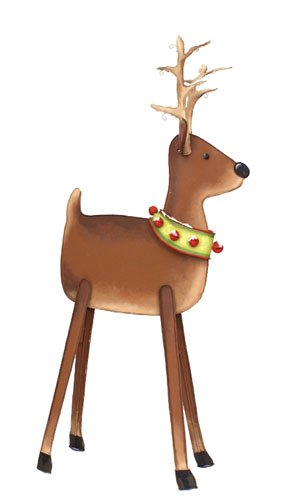 (The Round Top Collection Reindeer with Bell Collar Small -Metal)