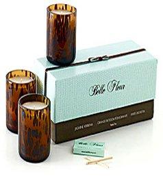 Belle Fleur - Petite Trio Floral Candle Gift Set