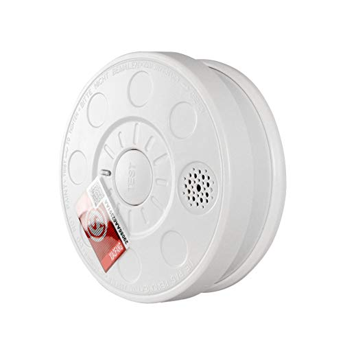 OJKK CO Detector, Smoke Alarm Monoxide Gas Detection/Battery Operated/Universal Security Instruments/Photoelectric Sensing/Fire Co Alarm/Protect Your Home from Fire Gas Leaks