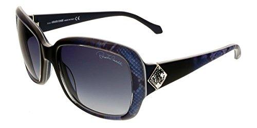 Roberto Cavalli RC881/S 92W Maia Blue Square - Roberto Snake Sunglasses Cavalli