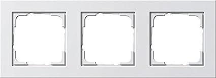 Gira 021322 Mascherina Di Copertura 3 Moduli E2 Bianco Puro Satinato
