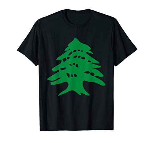 Lebanon Flag T-Shirt Cedar Tree Country Middle East Tee