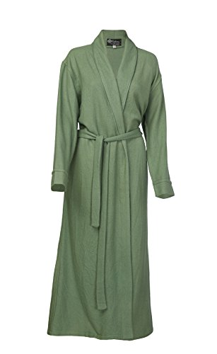 Pure Cashmere Robe for Women (Sage Green, Large/Extra Large)