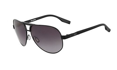 Nike Gradient Grey Lens Monza Sunglasses, Black/Satin Black