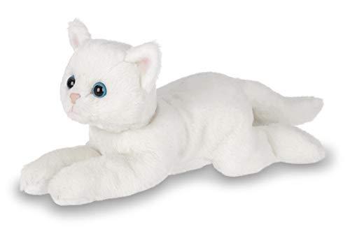 (Bearington Lil' Muffin Small Plush Stuffed Animal White Cat, Kitten 8 inches)