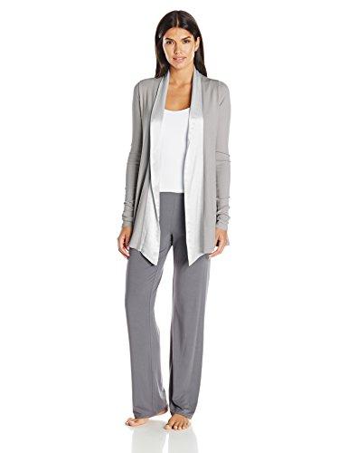 (PJ Harlow Women's Shelby Lounge Jacket, Dark Silver, Small)