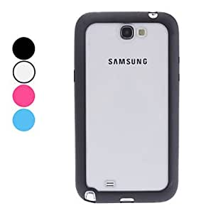 Gt Transparent Back Case for Samsung Galaxy Note 2 N7100 (Assorted Colors) , Blue