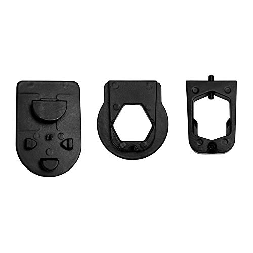 Master Tailgaters Rear View Mirror Three Metal Bracket Adapters for Volkswagen, Audi, Dodge, Ford, Honda