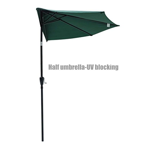 New UV blocking 10ft Half Umbrella Patio Outdoor Bistro Wall Balcony Wall Window Sun Shade Opt/ Green - Center Orchard At Shops Town