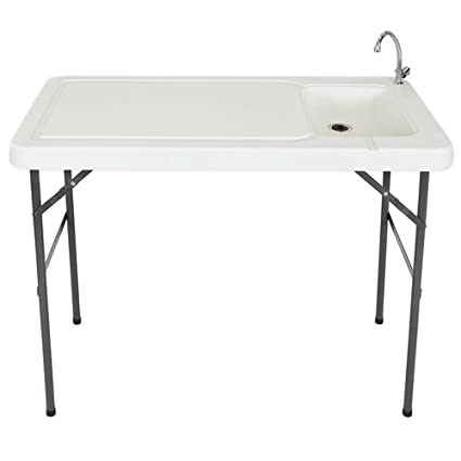 Amazing Best Choice Products Portable Cutting Cleaning Table For Fish Game Hunting W Sink Faucet Gray Uwap Interior Chair Design Uwaporg