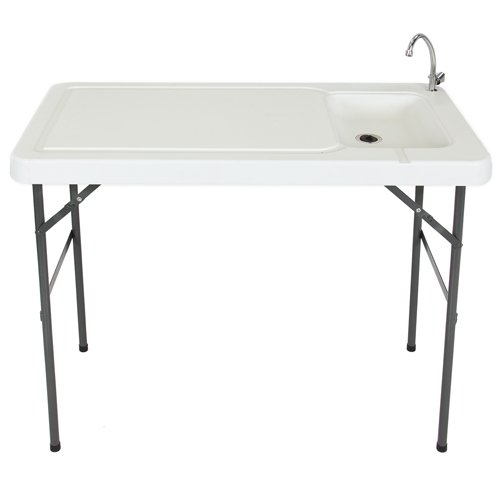 Best Choice Products Folding Portable Fish Fillet/Hunting/Cutting Table with Sink Faucet
