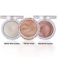 will give you Instant soft focus GLOW Shimmering Skin Highlighter Set of 3 Shades You Glow Girl Bundle by J Cat Beauty White Goddess, Twilight /& Pink Goddess for instant Glowing Skin