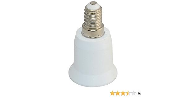 Details about  /5 x E14 to E27 Base LED Light Lamp Bulb Adapter Converter Screw Socket Adaptor