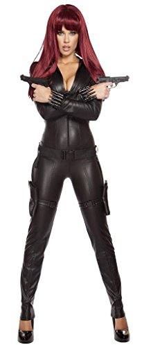 Sexy Natasha Romanoff Halloween Costume - Black - (Black Widow Costumes Sexy)