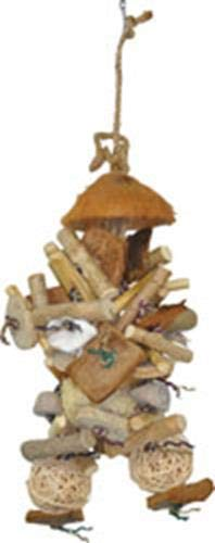 """A&E CAGE COMPANY HB46554 Java Wood Java Bush Assorted Bird Toy, 9 by 16.5"""""""