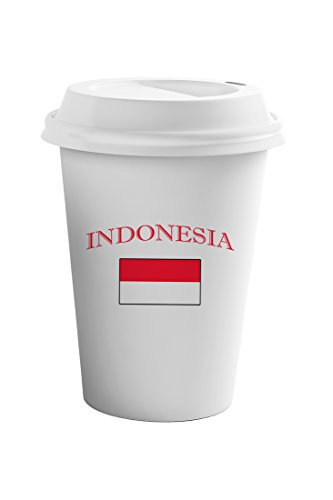 Style In Print Indonesia Country Original Name Coffee Ceramic Travel Tumbler Mug 11oz by Style in Print
