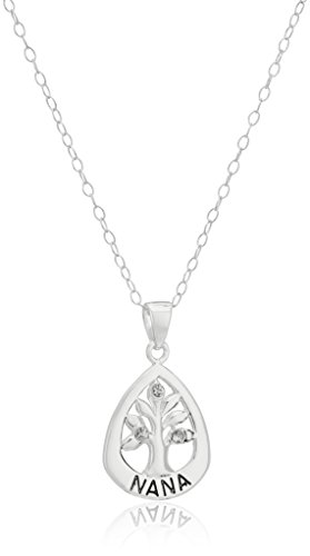 Sterling Zirconia Accents Pendant Necklace
