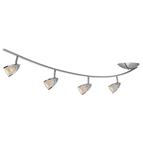 Comet 4-Light Off-Set Semi-Flush in Brushed Steel (BS) with Opal (OPL) Glass by Access Lighting