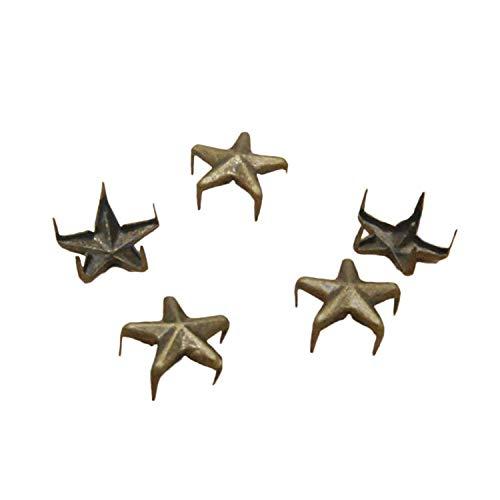 Image of Ecloud ShopUS 2 pieces 100 Bronze 10mm Leathercraft DIY Star Studs Spots