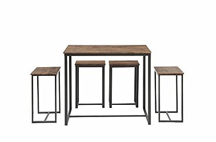 Abington Lane 5-Piece Counter Height Dining Table Set with 4 Stools  sc 1 st  Amazon.com & Amazon.com - Abington Lane 5-Piece Counter Height Dining Table Set ...